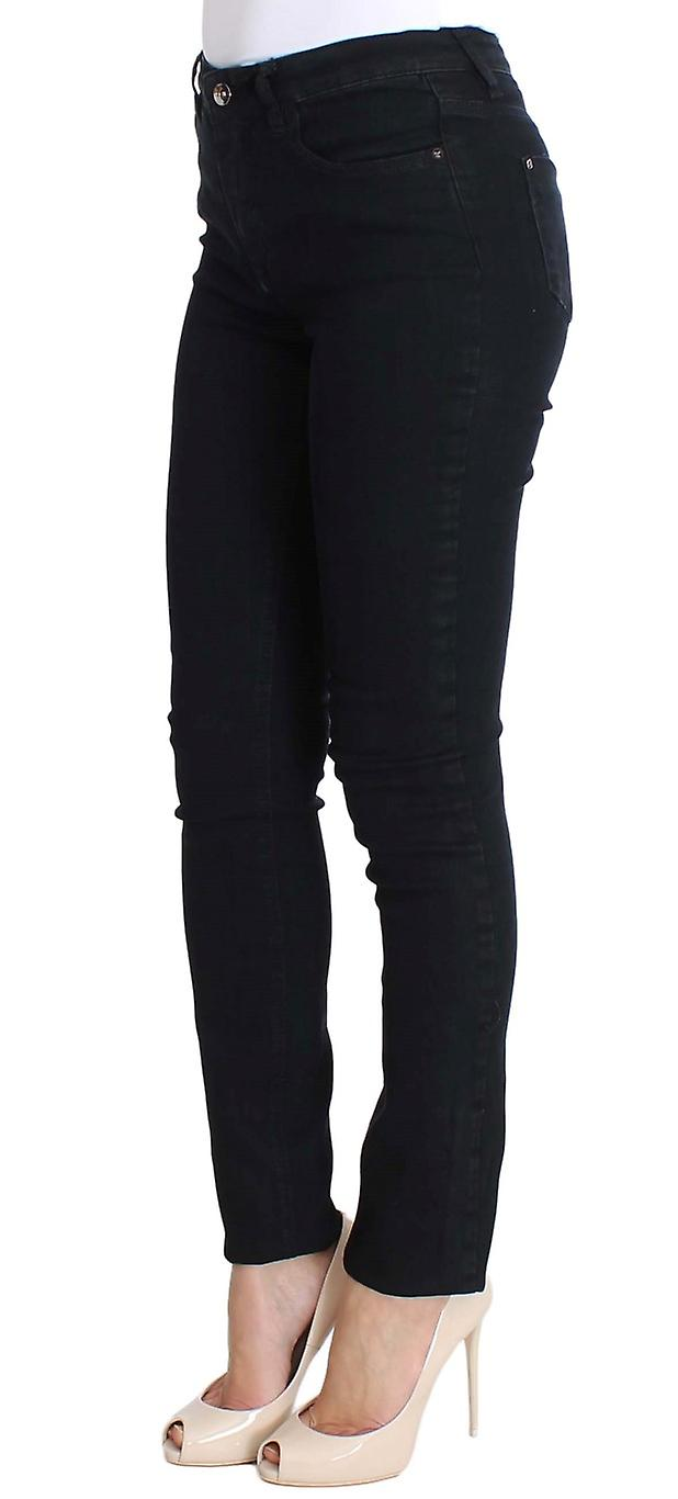 Costume National Black Cotton Stretch Womens Slim Fit Jeans