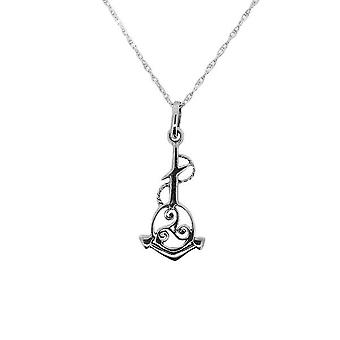 Outlander Inspired Scottish Outlander & apos;Voyager' Inspired Nautical Anchor Triskele Knot Necklace Wisiorek