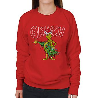 The Grinch Christmas Tree Thief Women's Sweatshirt