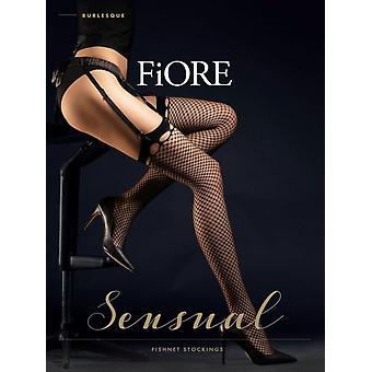 Fiore Burlesque Fishnet Stockings