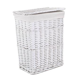 Small White Wicker Laundry Basket