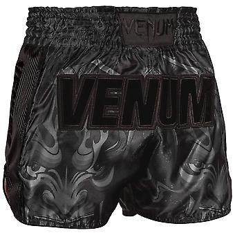 Venum Devil Muay Thai Shorts  Black/Black