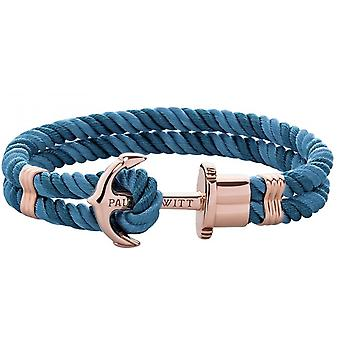 Paul Hewitt Ph-PH-N-R-NP Bracelet - Steel PHREP IP Pink Nylon Blue - Women's Green