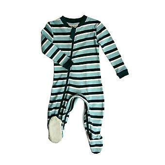 ZippyJamz organische Baby Footed Sleeper pyjama w. binnenbeenlengte rits voor het gemakkelijk wijzigen