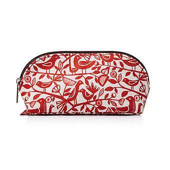 Nicky James Red Dove Print Make-up väska