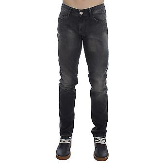 Acht Gray Cotton Stretch Super Slim Fit Jeans