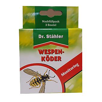 DR. STÄHLER Wespen-Köderfalle Nachfüllpack, 3 Beutel