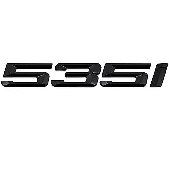 Gloss Black BMW 535i Car Model Rear Boot Number Letter Sticker Decal Badge Emblem For 5 Series E93 E60 E61 F10 F11 F07 F18 G30 G31 G38
