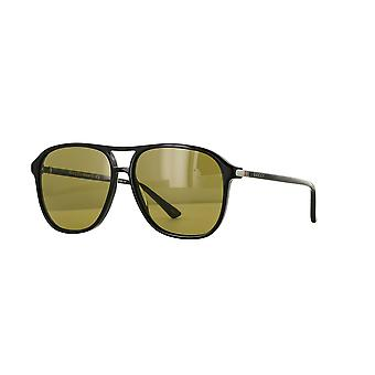 Gucci GG0016S 001 Black/Brown Sunglasses
