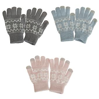 Foxbury Womens/Ladies Fairisle Touchscreen Gloves