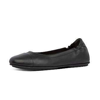 FitFlop Allegro™ Leather Toe-cap Ballerinas In Black