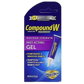 Compound w wart remover gel, 0.25 oz