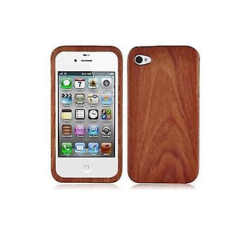 Cadorabo Case for Apple iPhone 4 / iPhone 4S - CASE made of ROSEN BAMBUS - 100% real wood phone case - Case Cover Protective Case Hard Case
