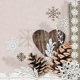 CraftEmotions Servietten 5pcs - Winter natur 33x33cm Ambiente 13309570