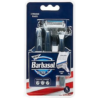 Barbasol ultra-3 premium disposable razor, 4 ea