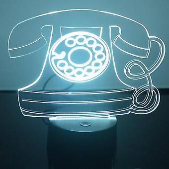 Old Fashioned Telephone Colour Changing LED Acrylic Light