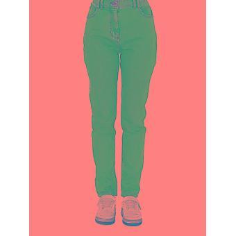 Balmain Tf15460d0076fc Women's Light Blue Cotton Jeans