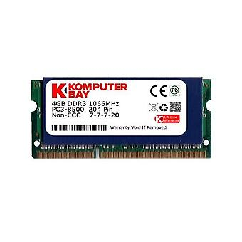 Komputerbay 4GB DDR3 SODIMM (204 pin) 1066Mhz PC3 8500 for Apple 4 GB with heat sink for additional cooling SODIMM
