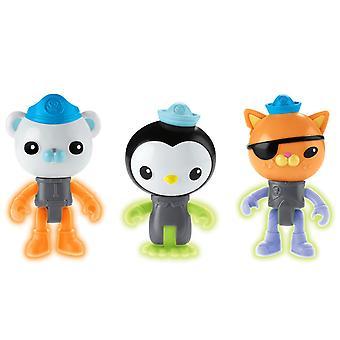 Octonauts Octonauts 3-Pack Shines In The Dark Figures Peso, Kwazii & Barnacies
