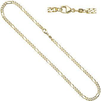 בגדי ריקוד נשים שרשראות פיגארו 585 צהוב זהב 4.4mm 50cm שרשרת זהב שרשרת זהב קרבינר
