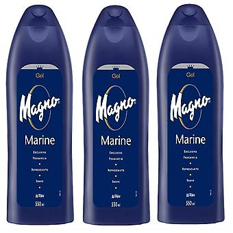Magno Gel Marine Blue 550ml (3 Pack)