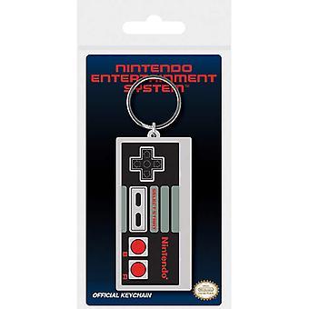 Nintendo NES-kontrolleren gummi nøkkelring