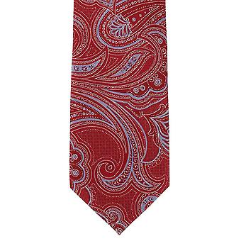 Michelsons London detaillierte Paisley Polyester Krawatte - rot