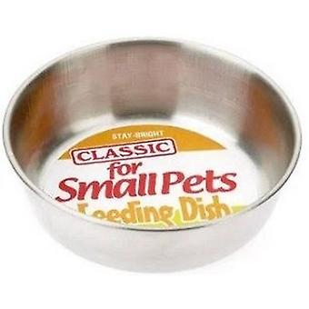 Classic Stainless Steel Hamster Dish