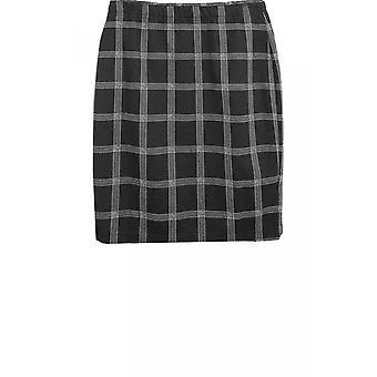Bianca Black Check Skirt