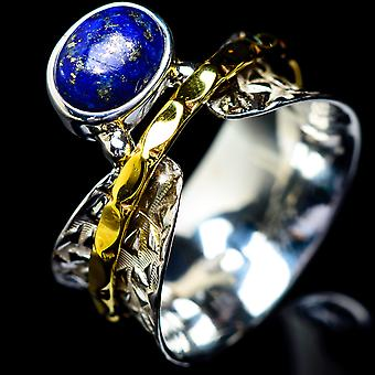 Lapis Lazuli Copper Ring Size 8.75 (925 Sterling Silver)  - Handmade Boho Vintage Jewelry RING5433