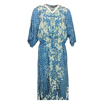 Tolani Petite Dress Collection Printed Lined Woven Maxi Blue A347420