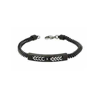 ZOPPINI Black Stainless Steel Bracelet