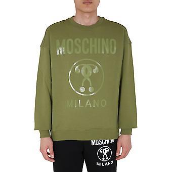 Moschino 170470270413 Heren's Green Cotton Sweatshirt