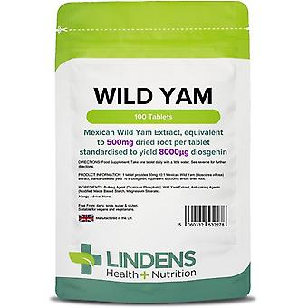 Lindens Wild Yam 500mg Tablets 100 (2278)