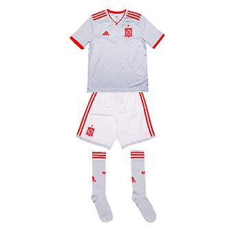 Boy's adidas Junior Spanien Auswärtskit in Weiß