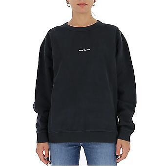 Acne Studios Ai0067black Kvinnor's Svart bomulls sweatshirt