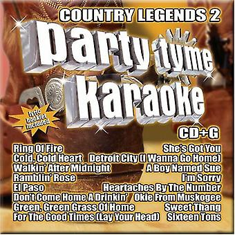 Party Tyme Karaoke - Party Tyme Karaoke: Vol. 2-Country Legends [CD] USA import