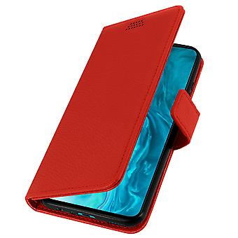 Honor 9X Lite Folio Case with Wallet Function - Red