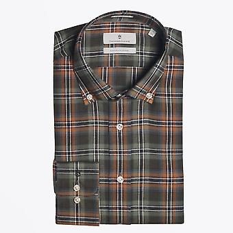 Thomas Maine  - Cotton Checked Shirt - Green