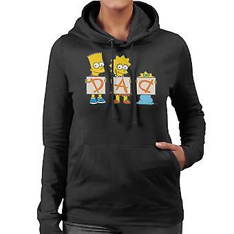 The Simpsons Dad Letters Women's Hooded Sweatshirt