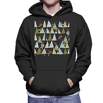 Star Wars Christmas Ewok Trees Men's Hooded Sweatshirt