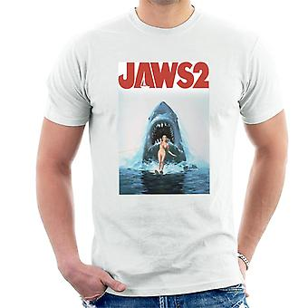 Jaws 2 Women Wakeboarding In Colour Men's T-Shirt