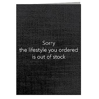 Lifestyle Out Of Stock Greeting Card