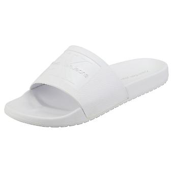 Calvin Klein Vincenzo Jelly Mens Slide Sandals in White
