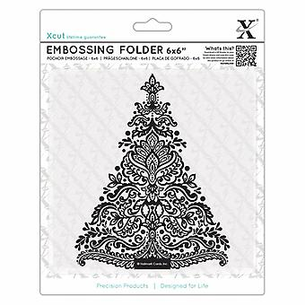 Xcut 6x6 Inch Embossing Folder Arts & Crafts Tree