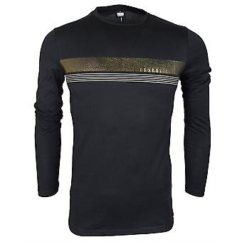 883 Police Angle Slim Fit Black Long Sleeve T-shirt