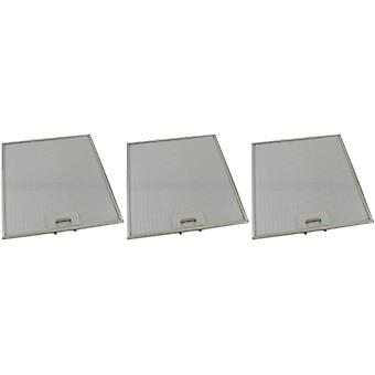 3 x Universal Cooker Haube Metall Fettfilter 322mm x 344mm