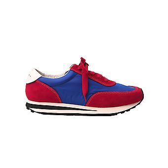 Marni Snzu004902p2970zl958 Men's Blue/red Fabric Sneakers
