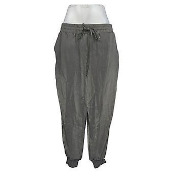 Anybody Women's Petite Pants Satin Jogger Gray A345513