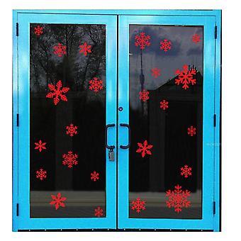 135PCS Boże Narodzenie Płatki śniegu Naklejki okno czerwony